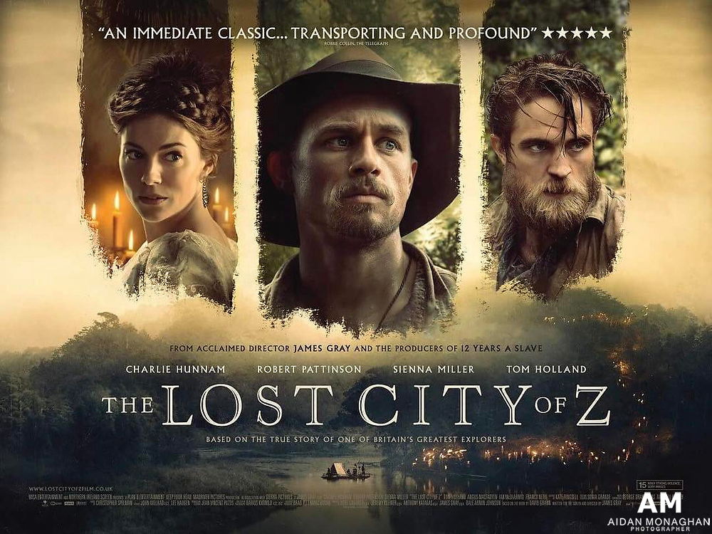 The Lost City of Z is based on the book by David Grann, the film is directed by James Gray and stars Charlie Hunnam as British explorer Percy Fawcett. The film also stars Robert Pattinson, Sienna Miller, and Tom Holland.<br />