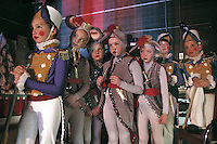 Young cast members of The Nutcracker wait in the wings for their turn to go on stage during the final performance of the annual production at Jackson Hole High School.
