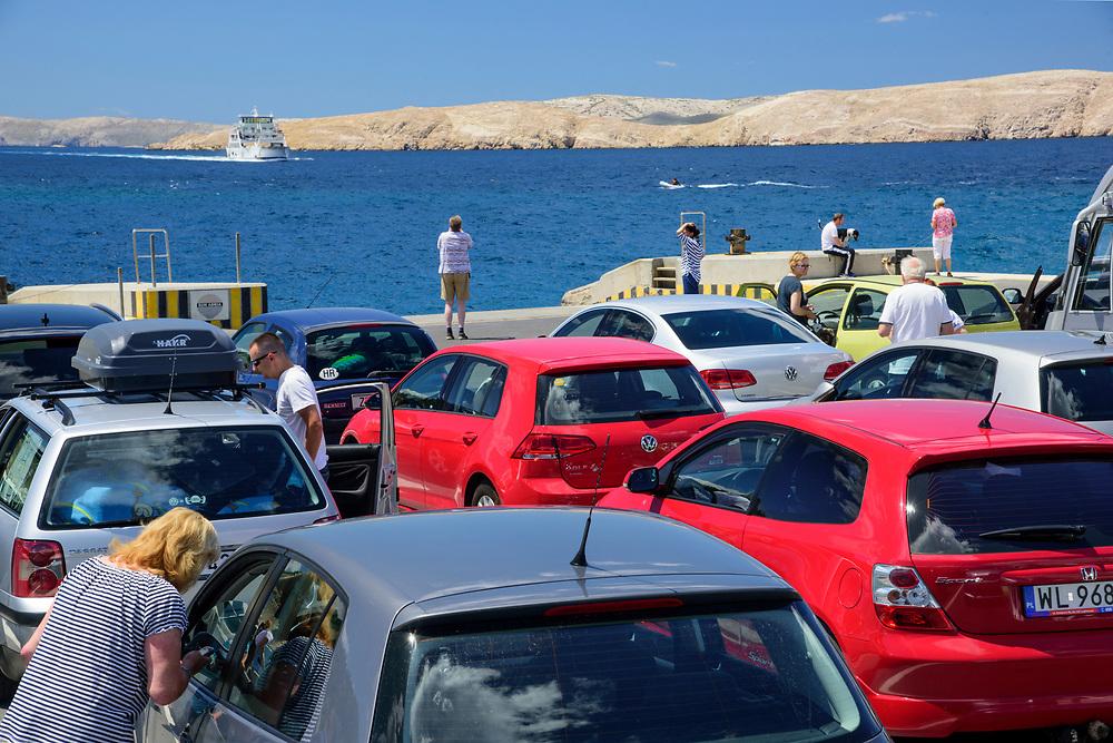 Europe, Balkan, Croatia, Adriatic Sea,Rab, Ferry to Rab