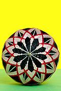 Japanese handmade traditional embroidered thread balls. called Temari