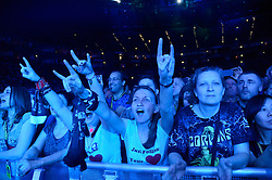 01.05.2014, Lancess Arena, Koeln, GER, Scorpions bei MTV Unplugged, im Bild Fans // Fans of the Scorpions performance live at MTV Unplugged at the Lancess Arena in Koeln, Germany on 2014/05/01. EXPA Pictures © 2014, PhotoCredit: EXPA/ Newspix/ Oliver Hausen<br /> <br /> *****ATTENTION - for AUT, SLO, CRO, SRB, BIH, MAZ, TUR, SUI, SWE only*****