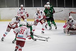 Koren Gal of HK Olimpija during Ice Hockey match between HK SZ Olimpija and EC KAC II during 1st round of Alps Hockey League 2019/20, on September 14, 2019, in Hala Tivoli, Ljubljana, Slovenia. Photo by Grega Valancic