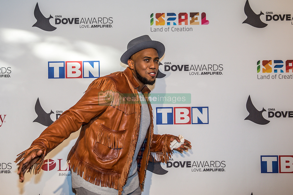 October 11, 2016 - Nashville, Tennessee, USA - Anthony Brown at the 47th Annual GMA Dove Awards  in Nashville, TN at Allen Arena on the campus of Lipscomb University.  The GMA Dove Awards is an awards show produced by the Gospel Music Association. (Credit Image: © Jason Walle via ZUMA Wire)
