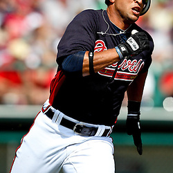 March 16, 2011; Lake Buena Vista, FL, USA; Atlanta Braves second baseman Martin Prado (14) during a spring training exhibition game against the Boston Red Sox at the Disney Wide World of Sports complex.  Mandatory Credit: Derick E. Hingle