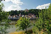 Altstadt und Schloss am Neckar, Hirschhorn, Neckar, Hessen, Deutschland | Old Town and Castle, Hirschhorn, Neckar, Hessen, Germany