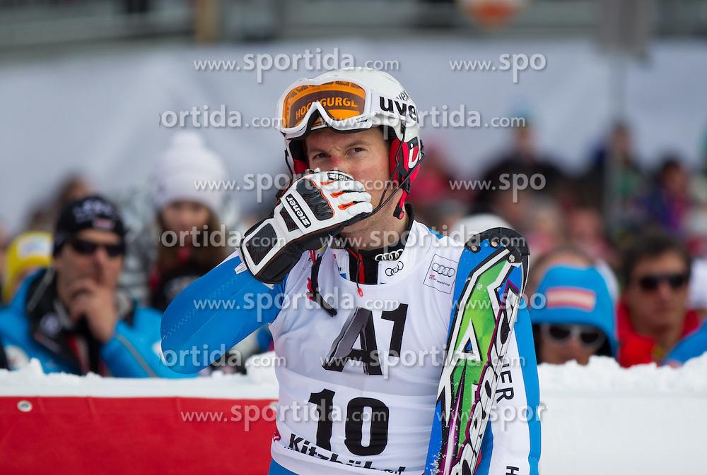 27.01.2013, Ganslernhang, Kitzbuehel, AUT, FIS Weltcup Ski Alpin, Slalom, Herren, 2. Lauf, im Bild Fritz Dopfer (GER) // Fritz Dopfer of Germany reacts after 2nd run of the mens Slalom of the FIS Ski Alpine World Cup at the Ganslernhang course, Kitzbuehel, Austria on 2013/01/27. EXPA Pictures © 2013, PhotoCredit: EXPA/ Johann Groder