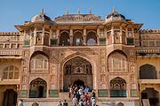 Amber (Also Amer) Fort, near  Jaipur, Rajasthan, India