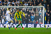 Jake Livermore of West Bromwich Albion (8) passes the ball during the EFL Sky Bet Championship match between Leeds United and West Bromwich Albion at Elland Road, Leeds, England on 1 March 2019.