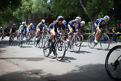 Alexis Ryan (USA) of CANYON//SRAM Racing digs deep during the fourth, 70 km road race stage of the Amgen Tour of California - a stage race in California, United States on May 22, 2016 in Sacramento, CA.