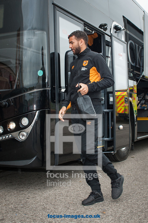 Kevin Stewart of Hull City arrives at Oakwell. Barnsley, prior to the Sky Bet Championship match between Barnsley and Hull City <br /> Picture by Matt Wilkinson/Focus Images Ltd 07814 960751<br /> 21/10/2017