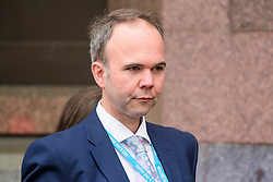 © Licensed to London News Pictures. 01/10/2017. Manchester, UK. GAVIN BARWELL, chief of staff to Theresa May, seen on the opening day of the Conservative Party Conference. There have been conflicts within the conservative party and government over the UK's approach to Brexit, which is expected to feature heavily at this years event. Photo credit: Ben Cawthra/LNP