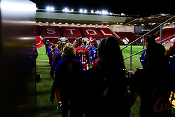 Bristol City Women and Everton Women enter the field prior to kick off - Mandatory by-line: Ryan Hiscott/JMP - 17/02/2020 - FOOTBALL - Ashton Gate Stadium - Bristol, England - Bristol City Women v Everton Women - Women's FA Cup fifth round