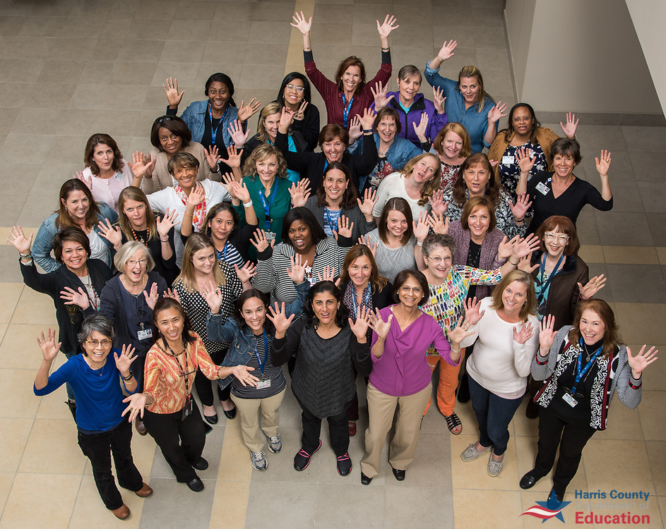Harris County Department of Education physical therapists and assistants pose for a photograph, October 25, 2017.