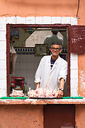 Butcher portrait, Marrakech, Morocco, 2016–04-19.