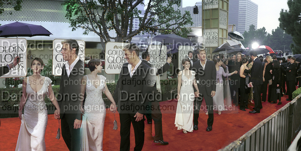 Winona Ryder and Kevyn Acoin. Golden Globes. Beverley Hilton Hotel. Los Angeles. 23/1/2000© Copyright Photograph by Dafydd Jones<br /> 66 Stockwell Park Rd. London SW9 0DA<br /> Tel 0171 733 0108. www.dafjones.com