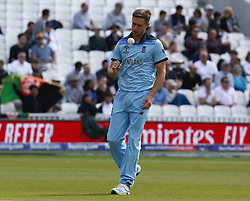 May 27, 2019 - London, England, United Kingdom - Chris Woakes of England.during ICC Cricket World Cup - Warm - Up between England and Afghanistan at the Oval Stadium , London,  on 27 May 2019. (Credit Image: © Action Foto Sport/NurPhoto via ZUMA Press)