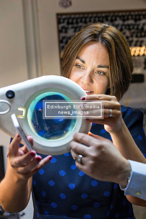 Scottish Labour Leader, Kezia Dugdale, visits IT repair and retail store SimplyFixIt in Edinburgh, which has recently been accredited as a living wage employer.<br /> <br /> Pictured: Kezia Dugdale