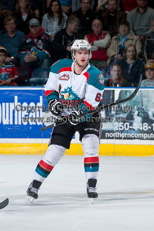 KELOWNA, CANADA - APRIL 3: Mitchell Wheaton #6 of the Kelowna Rockets skates against the Seattle Thunderbirds on April 3, 2014 during Game 1 of the second round of WHL Playoffs at Prospera Place in Kelowna, British Columbia, Canada.   (Photo by Marissa Baecker/Getty Images)  *** Local Caption *** Mitchell Wheaton;