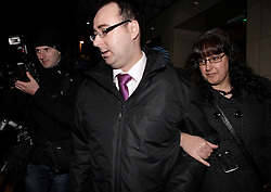 © Licensed to London News Pictures. 03/01/2013. Stratford, London, U.K. Ashley Gill-Webb  from South Milford, near Leeds LEAVING stratford magistrates court in London after facing charges of a  public order offence after a bottle was thrown at the start of the men's Olympic 100m final at the London Olympics in August 2012 .Photo credit : Rich Bowen/LNP