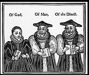 Puritan satire in William Laud (1573-1645),  Archbishop of Canterbury from 1633, religious adviser to Charles I. Persecuted  the Puritans, attempted to force Anglican liturgy on Presbyterian church in Scotland, and laid down new canons of the Laudian church.