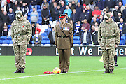 Remembrance before kick off of the Sky Bet Championship match between Cardiff City and Reading at the Cardiff City Stadium, Cardiff, Wales on 7 November 2015. Photo by Jemma Phillips.