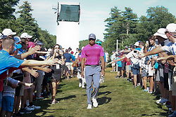 September 1, 2018 - Norton, Massachusetts, United States - Tiger Woods approaches the 12th tee during the second round of the Dell Technologies Championship. (Credit Image: © Debby Wong/ZUMA Wire)