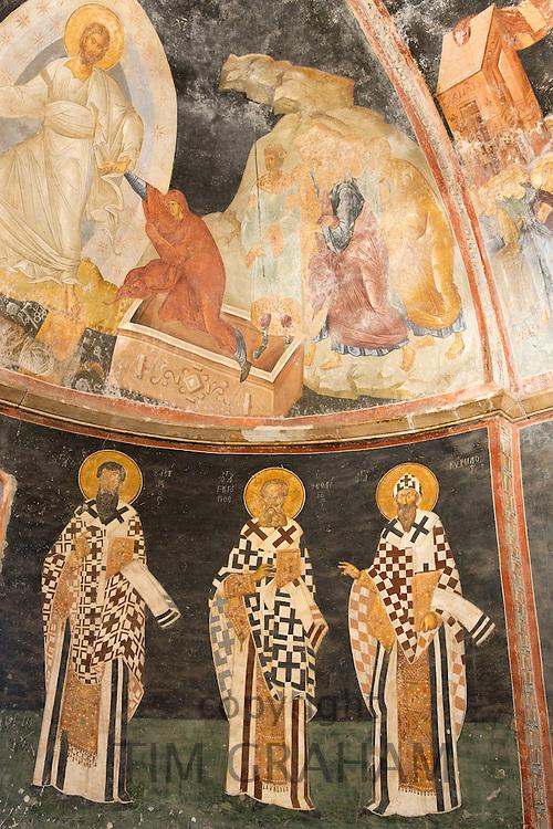Church of St Saviour in Chora, Kariye Museum St Savior mosaic fresco Jesus Christ biblical scene, Istanbul, Turkey