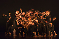 © Licensed to London News Pictures. 03/09/2015. London, UK. The Rashomon Effect choreographed by Akram Khan. Multiple in-camera exposure. 125 young dancers perform at the new annual Apex Rising Festival at Sadler's Wells organised by the National Youth Dance Company. Photo credit : Bettina Strenske/LNP