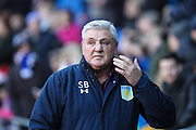 Aston Villa manager Steve Bruce before the EFL Sky Bet Championship match between Cardiff City and Aston Villa at the Cardiff City Stadium, Cardiff, Wales on 2 January 2017. Photo by Andrew Lewis.