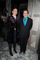 Left to right, SELINA BLOW and her brother DETMAR BLOW at a party for Yves Saint Laurent's Creative Director Stefano Pilati given by Colin McDowell held at The Connaught Bar, The Connaught, Mount Street, London on 29th October 2008.