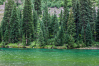 Maroon Lake (Maroon Bells-Snowmass Wilderness) at White River National Forest, Pitkin Co, CO, USA, on 29-Jul-17