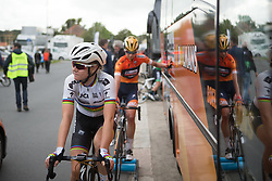 Amalie Dideriksen (DEN) of Boels-Dolmans Cycling Team cools down after Stage 2 of the Ladies Tour of Norway - a 140.4 km road race, between Sarpsborg and Fredrikstad on August 19, 2017, in Ostfold, Norway. (Photo by Balint Hamvas/Velofocus.com)