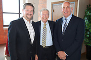Thomas Waltermire, Team NEO, Donald Esarove, Cypress Corporation and Larry Miller, Global Cleveland at the Grand Opening event of the Ariel International Center on July 12, 2012.
