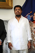 26 August 2010- New York, NY- Taxi Driver Ahmed Sharif, victim of anti-muslim bias attack, meets with Mayor Michael Bloomberg and New York City Council President Christine Quinn to denouce hate crimes in New York City. ..Taxi Cab Driver Ahmed Sharif was slashed and stabbed by a passenger who first asked if he were musilim, and then savegely stabbed him 5 times over  his face, throat and arrms by 21year-old Michael Enright, a College Student at School of Visual Arts who had just returned from Afghanistan.