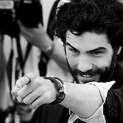 "Black & White Portrait ""Tahar Rahim"" during the 66th Annual Cannes Film Festival"