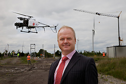 Green Aviation Launches Ireland&rsquo;s Largest Drone Offering First Irish commercial drone company to operate above 20kg Max Take Off Weight 30% cheaper than current solutions 90% more fuel efficient.<br /> <br /> Pictured at the Green Aviation Launches Ireland&rsquo;s Largest Drone Offering were:<br /> Ulick McEvaddy, CEO of Omega Air, <br /> Brig. Gen. Ger Aherne, Chairman of Green Aviation.<br /> Oisin Green, CEO Green Aviation and former Commercial Airline Pilot, <br />  <br /> Dublin, 14th July 2015: Green Aviation, Ireland&rsquo;s largest commercial drone company today launched its unmanned aerial services at an event at Mount Lucas Wind Farm, Co.Offaly. The company aims to disrupt the current commercial marketplace by providing solutions up to 30% more cost efficient and 90% more energy efficient than current solutions. The drone display was the first by an Irish commercial drone company to operate a drone above 20kg Max Take Off Weight, and the first to operate a drone in the Extended Visual Line of Sight range.<br />  <br /> Green Aviation has partnered with global unmanned aerial vehicle manufacturers to provide Irish and International clients with the largest and most efficient range of services in the market. By having a selection of drones ranging from 11kg to 150kg in weight flying cameras weighing anywhere between 3kgs to 35kgs, Green Aviation is able to service a diverse market place in data collection tailored to its specific and varying needs. This platform selection, according to Green Aviation CEO and former Commercial Airline Pilot, Oisin Green, is key.<br />  <br /> &ldquo;Clients come to us with an array of different requirements and the current &lsquo;one size fits all&rsquo; approach is not working for them. Utility companies for example, who currently would use helicopters to monitor the National Grid are switching to our large, industrial Inspection drone as it is silent, compared to the helicopters which are very loud- particularly at low levels which disturb livestock. Wind farm operators on the other hand, need a small, eff