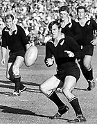All Black Grahame Thorne in action.<br /> New Zealand All Blacks v South Africa in 1970.<br /> Copyright photo: Wessel Oosthuizen / www.photosport.co.nz