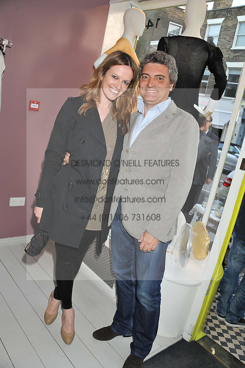 SILVIA PINI and PABLO GOMEZ at a party at De Roemer, 14 Porchester Place, London W2 on 1st May 2013.