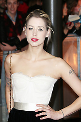 © licensed to London News Pictures. LONDON UK 07/04/14 Peaches Geldof found dead at her home in Wrotham in Kent aged 25. FILE PICTURE DATED 11/11/2013 Peaches Geldof, The Hunger Games: Catching Fire - World film premiere, Leicester Square, London UK, 11 November 2013. Photo credit : Richard Goldschmidt/Piqtured/LNP