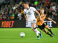 Football - 2019 / 2020 EFL Carabao (League) Cup - Second Round: Swansea City vs. Cambridge United<br /> <br /> Ben Wilmot of Swansea City & Andrew Dallas of Cambridge United , at Liberty Stadium.<br /> <br /> COLORSPORT/WINSTON BYNORTH
