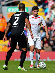 Harry Kewell in action for Carraghers' XI - Photo mandatory by-line: Dougie Allward/JMP - Mobile: 07966 386802 - 29/03/2015 - SPORT - Football - Liverpool - Anfield Stadium - Gerrard's Squad v Carragher's Squad - Liverpool FC All stars Game