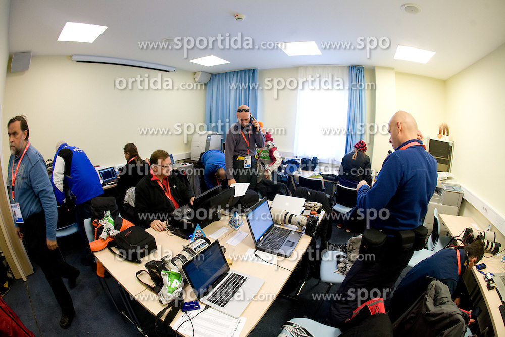 Press center at e.on Ruhrgas IBU World Cup Biathlon Pokljuka, on December 17, 2009, in Sports center, Pokljuka, Slovenia. (Photo by Vid Ponikvar / Sportida)