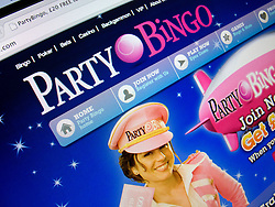 Detail of online bingo website PartyBingo homepage screen shot