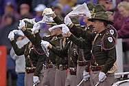Members of the Texas A&M Aggie Corp wave their 12th Man towels during a game against Kansas State at KSU Stadium in Manhattan, Kansas, October 22, 2005.