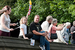 Olympic Torch reaches Sheffield Chapeltown/Ecclesfield/Parson Cross leg.<br /> Crowds line Church Street close to Ecclesfield Church waiting for the Torch Bearer<br /> 25 June 2012.<br /> Image © Paul David Drabble