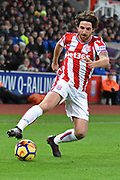 Stoke City midfielder Joe Allen (4) 0-1 during the Premier League match between Stoke City and Liverpool at the Bet365 Stadium, Stoke-on-Trent, England on 29 November 2017. Photo by Alan Franklin.