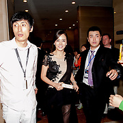 Actress Hwang Woo Seul Hye arrives at Haeundae Grand Hotel on October 5, 2012.