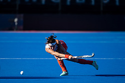 The Netherlands Eva de Goede. Vitality Hockey Women's World Cup, Lee Valley Hockey and Tennis Centre, London, UK on 05 August 2018. Photo: Simon Parker