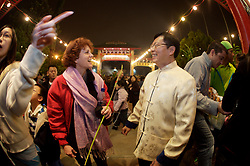 Stock photo of people enjoying the festivities during Chinese New Year in downtown Houston Texas