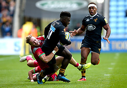 Christian Wade of Wasps is tackled - Mandatory by-line: Robbie Stephenson/JMP - 17/09/2017 - RUGBY - Ricoh Arena - Coventry, England - Wasps v Harlequins - Aviva Premiership